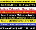 2.el Cafe Lokanta Restaurant Malzemeleri ve 2.el Endüstriyel Mutfak Ekipmanları